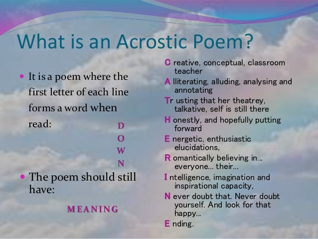 write an acrostic poem using the word cells
