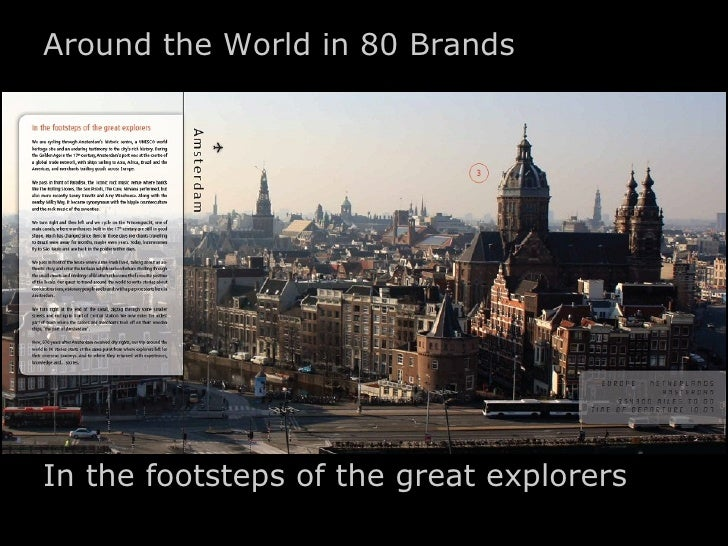 Around the World in 80 BrandsIn the footsteps of the great explorers