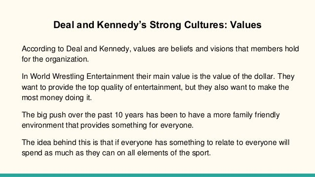 deal kennedy strong culture Chapter 3: sales culture  in deal and kennedy's book,  companies and units with strong cultures have many heroes whose stories.