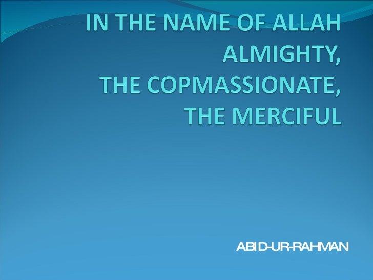 ABID-UR-RAHMAN