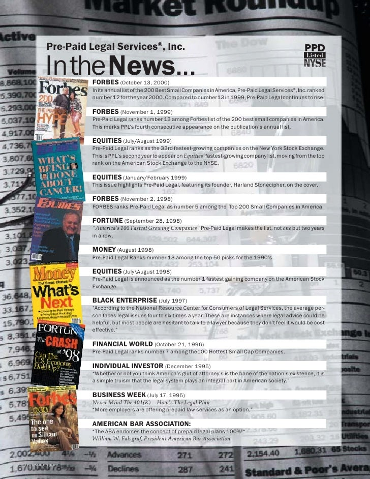 Pre-Paid Legal Services®, Inc.             In the News...                       FORBES (October 13, 2000)                 ...