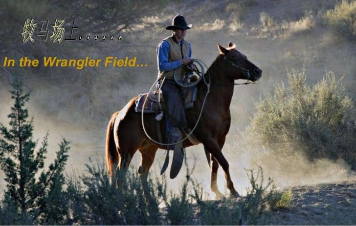 牧马场上...... In the Wrangler Field…