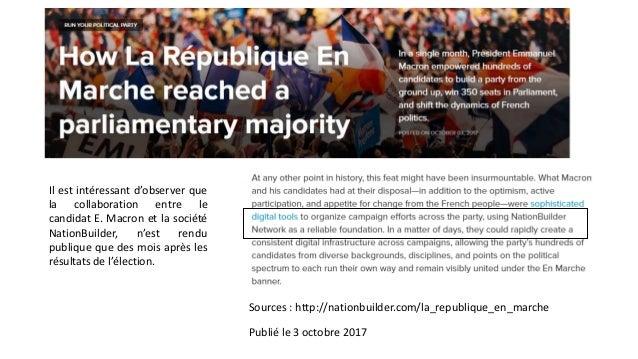 III. Un terrain d'observation 2.0 – La chaîne organisationnelle du web. On remarque que certain candidat, notamment J-L Mé...