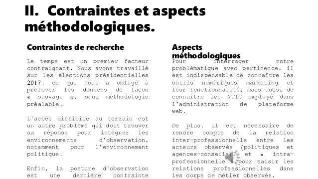 II. Contraintes et aspects méthodologiques. Section du Parti Socialiste du Doubs L'activité de la section étant administré...