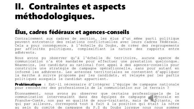 II. Contraintes et aspects méthodologiques. Appréhender une relation professionnelle complexe La relation entre un politiq...
