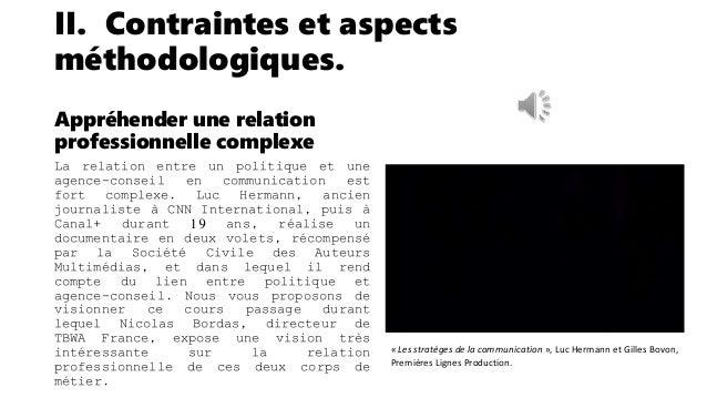 II. Contraintes et aspects méthodologiques. Conclusions préalables Pour répondre au double objectif que nous nous sommes f...