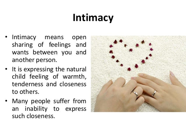 Intimacy - IResearchNet