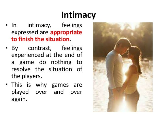 Meaning of intimacy