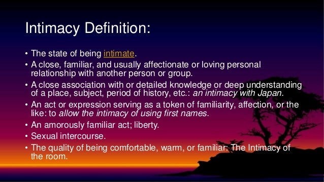 Intimate relationship definition - Law Insider