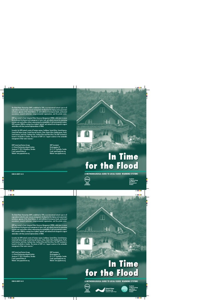 In Time for the Flood A METHODOLOGICAL GUIDE TO LOCAL FLOOD WARNING SYSTEMS                                              I...