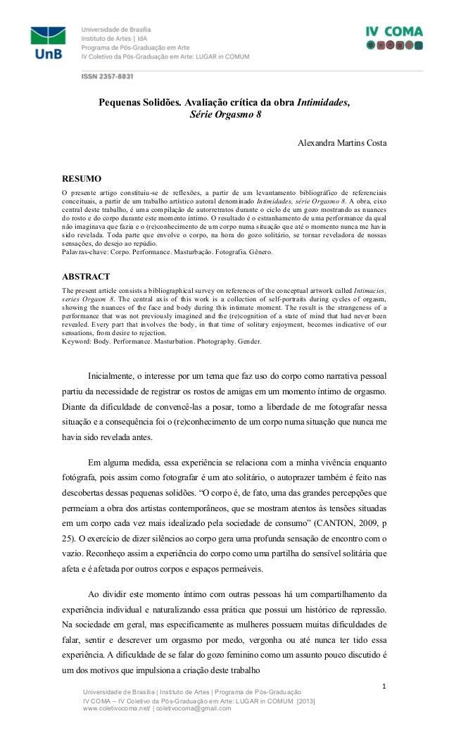 Universidade de Brasília | Instituto de Artes | Programa de Pós-Graduação  IV COMA – IV Coletivo da Pós-Graduação em Arte:...