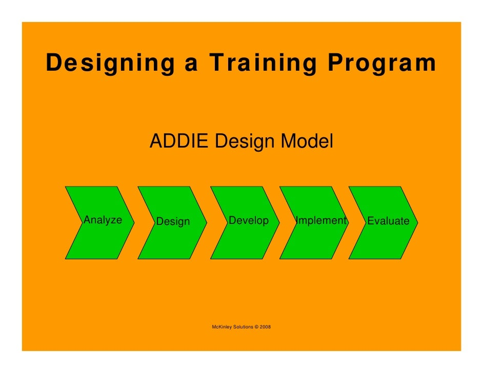 int in house service excel training design a program
