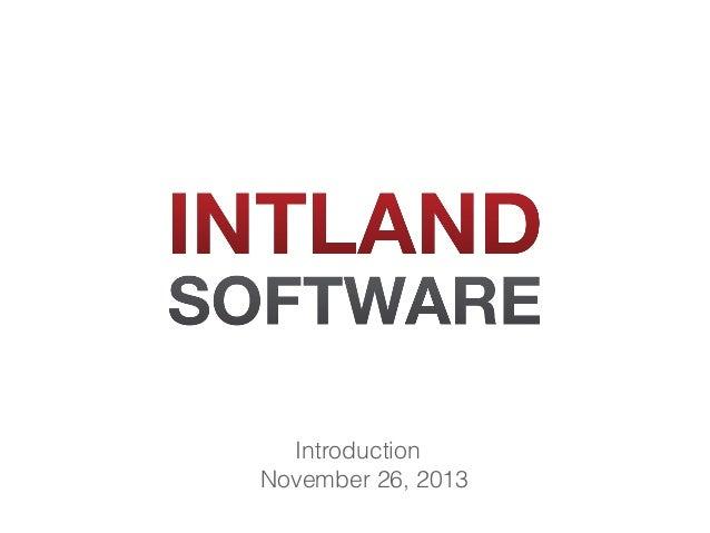 Introduction November 26, 2013