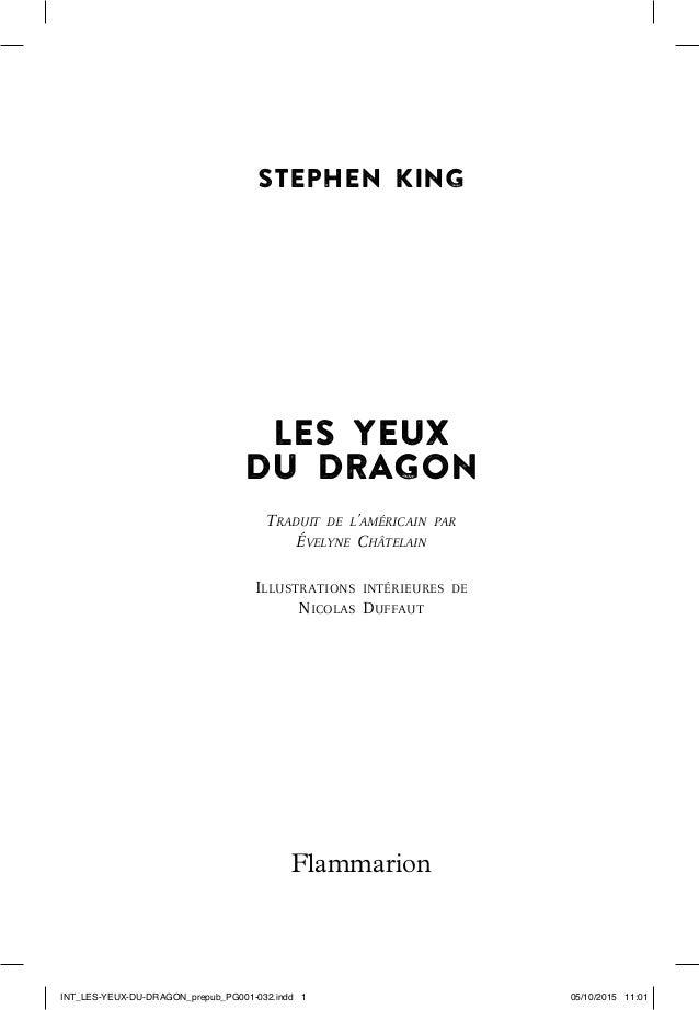 245146COW_DRAGON_fm9_xml.fm Page 6 Mercredi, 2. septembre 2015 3:06 15 STEPHEN KING LES YEUX DU DRAGON TRADUIT DE L'AMÉRIC...