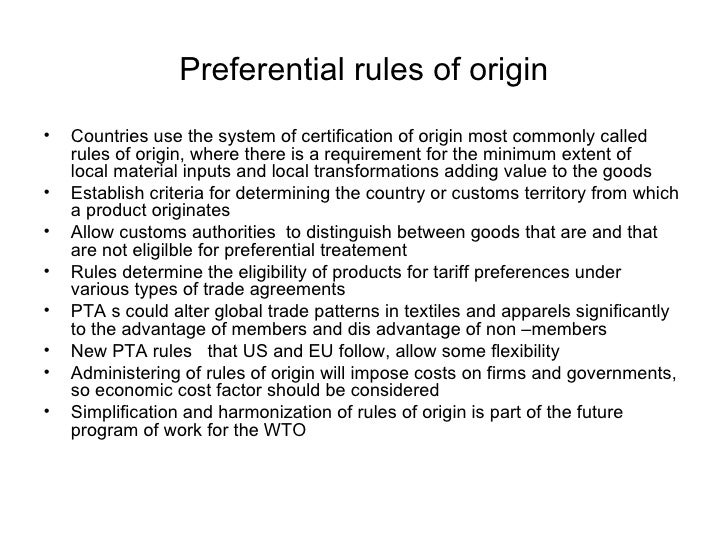 Preferential Trade Agreement