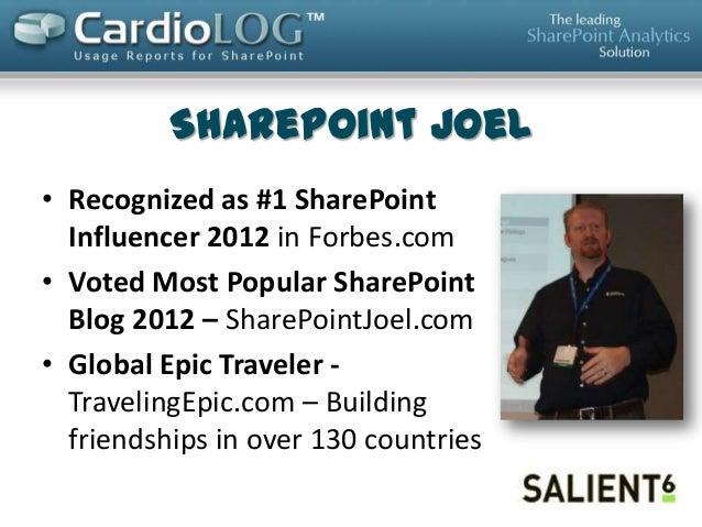 SharePoint 2013 Usage Analytics and Making Metrics Actionable Slide 2