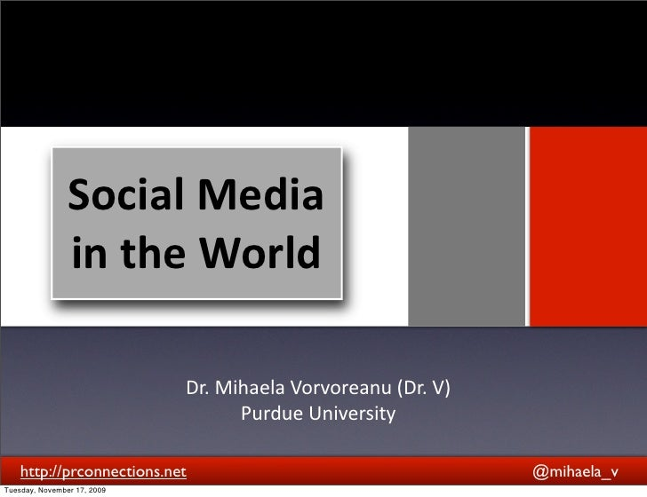 Social  Media                   in  the  World                                  Text                              ...