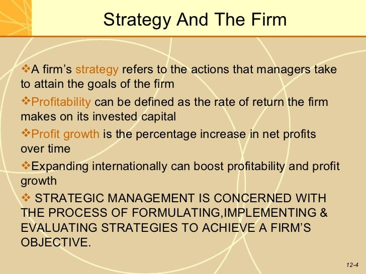 strategic mgmt notes Global strategic management discusses the sources of competitive advantage, the nature of competitive advantage in global industries, types of international strategy, analysis of global cost structures, globalization of service businesses, emerging economies, global knowledge management, and country management.
