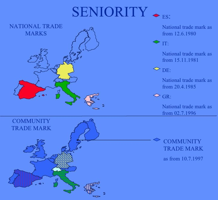 SENIORITY ES : National trade mark as from 12.6.1980 IT: National trade mark as from 15.11.1981 DE: National trade mark as...