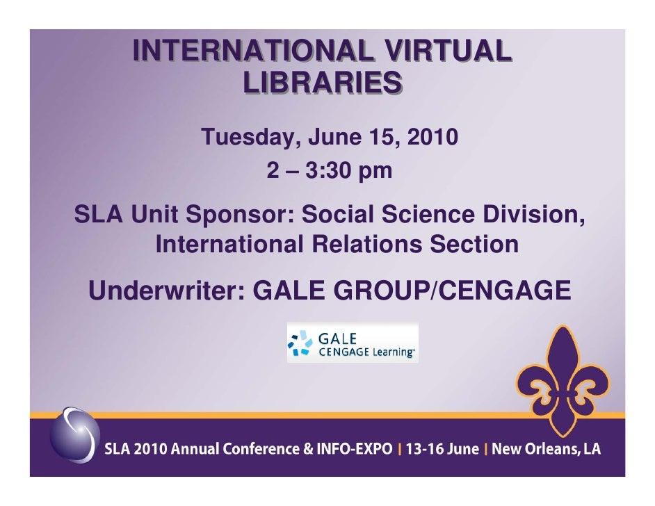 International Virtual Libraries