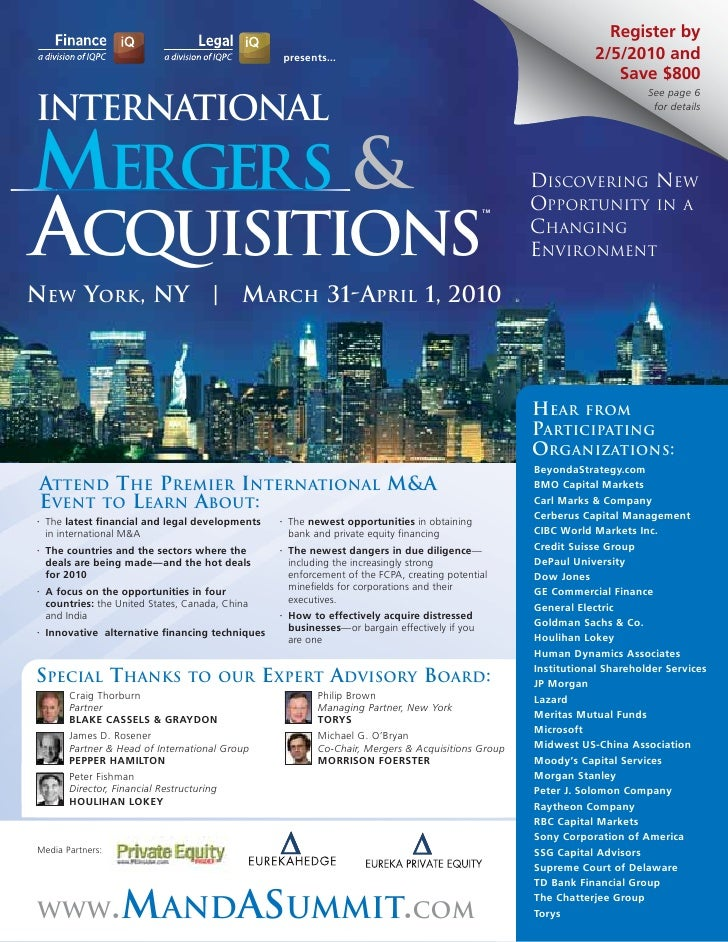 Internal assessment mergers and acquisitions