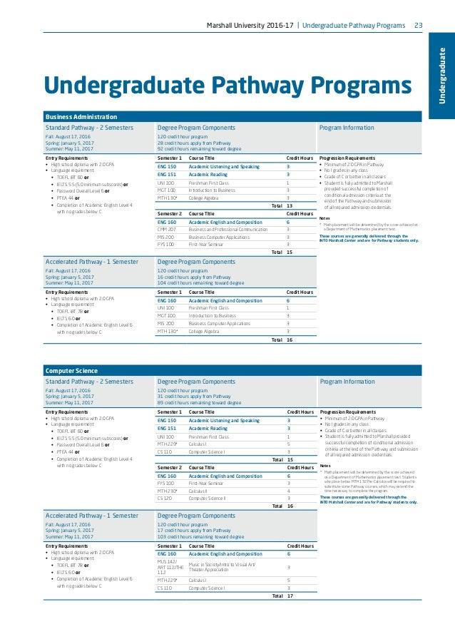 Marshall University -brochure-2016-17