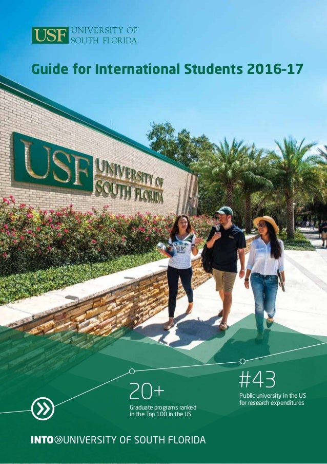 Usf Masters Programs >> University Of South Florida Brochure 2016 17