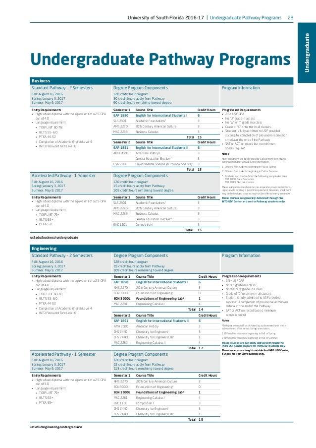 University of South Florida brochure-2016-17
