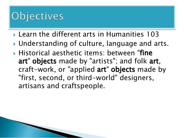 Introduction To Fine Arts Performance Visual World Culture Foreign