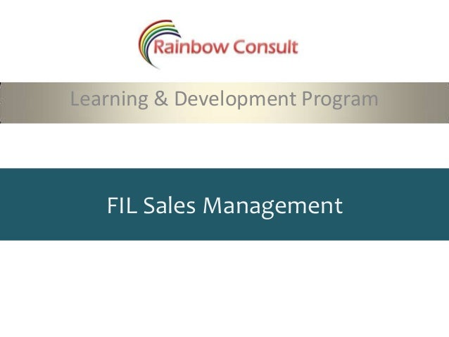 FIL Sales ManagementLearning & Development Program