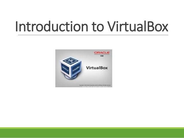 Introduction to VirtualBox