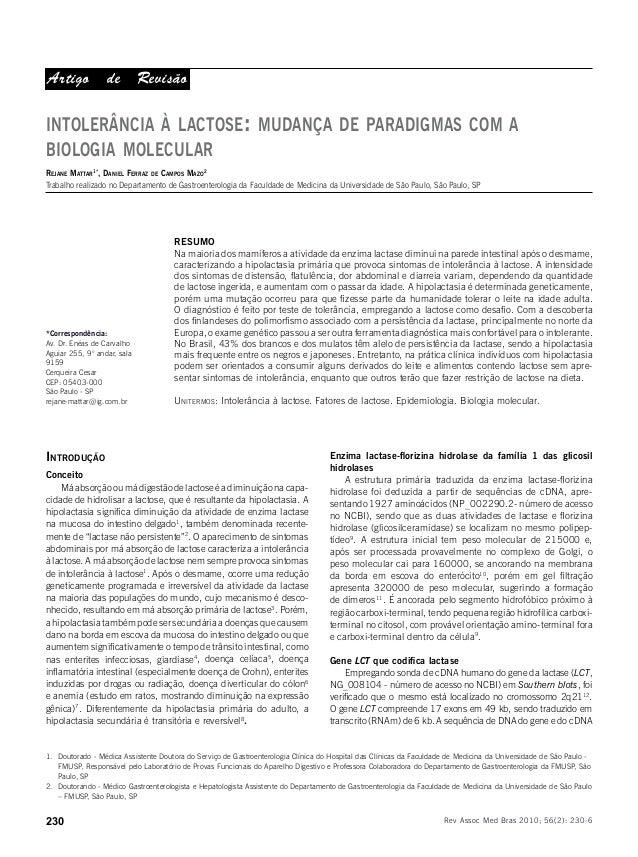Mattar R et al. 230 Rev Assoc Med Bras 2010; 56(2): 230-6 *Correspondência: Av. Dr. Enéas de Carvalho Aguiar 255, 9° andar...
