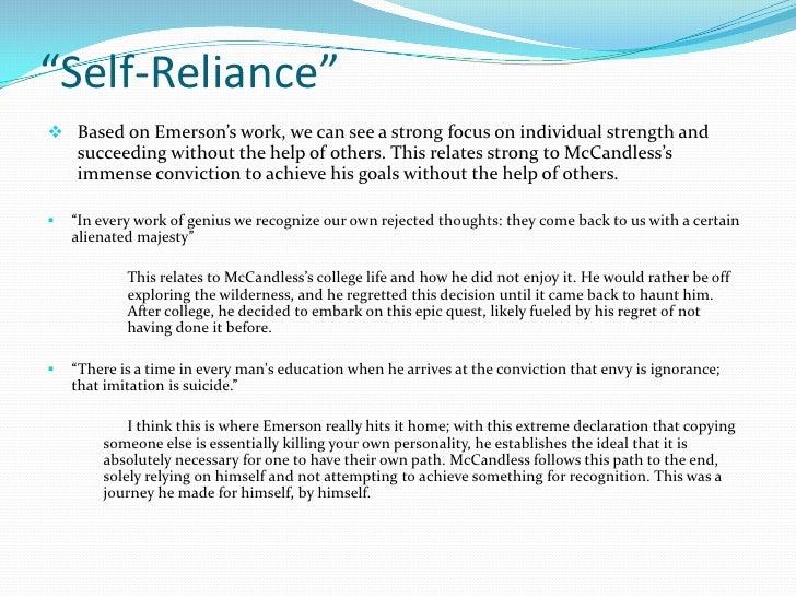 self reliance paraphrase