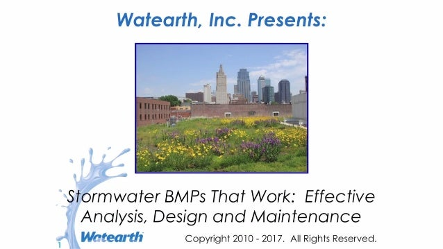 Watearth Introduction to BMPs