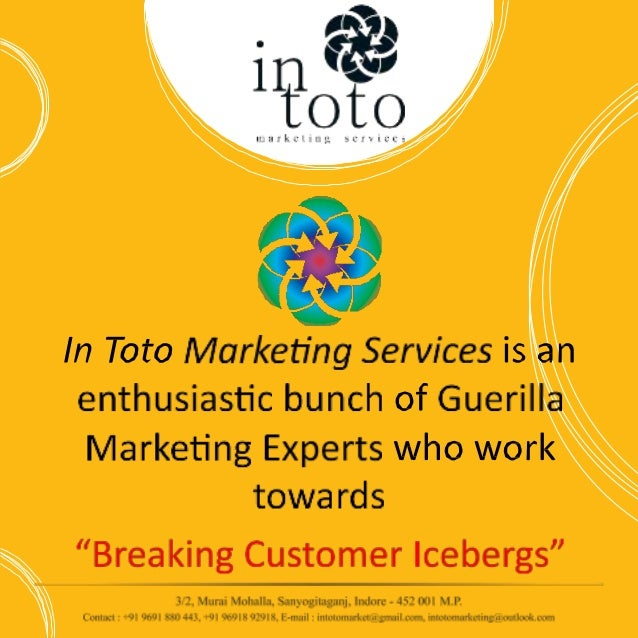 In Toto Marketing Services Slide 3