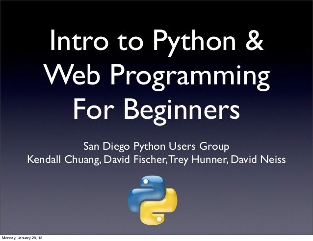 Intro to Python &                         Web Programming                           For Beginners                        S...
