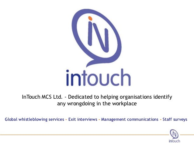 InTouch MCS Ltd. - Dedicated to helping organisations identify 2012                                                       ...