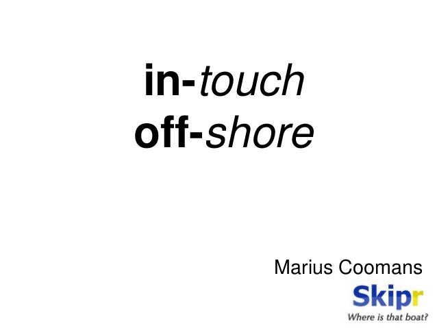 in-touch off-shore Marius Coomans