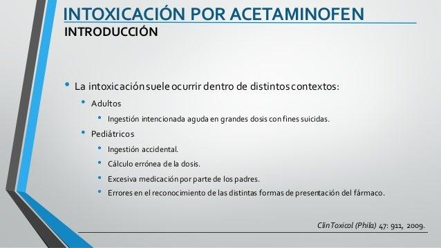 Intoxicación acetaminofen