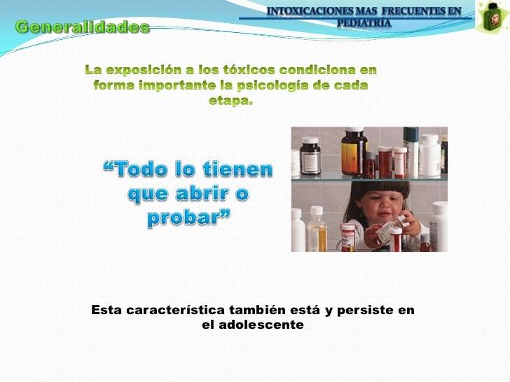 Intoxicaciones en Pediatria.  Slide 3