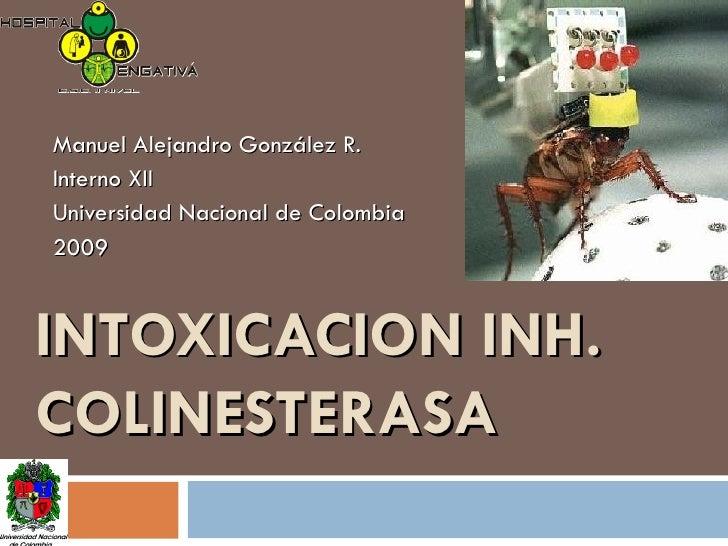 INTOXICACION INH. COLINESTERASA Manuel Alejandro González R. Interno XII Universidad Nacional de Colombia 2009