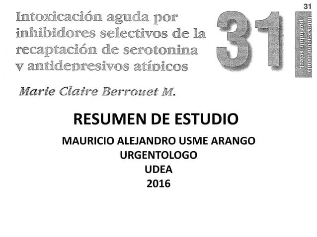 RESUMEN DE ESTUDIO MAURICIO ALEJANDRO USME ARANGO URGENTOLOGO UDEA 2016