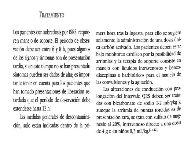 Intoxicacion Inhibidores de la recaptacion de serotonina