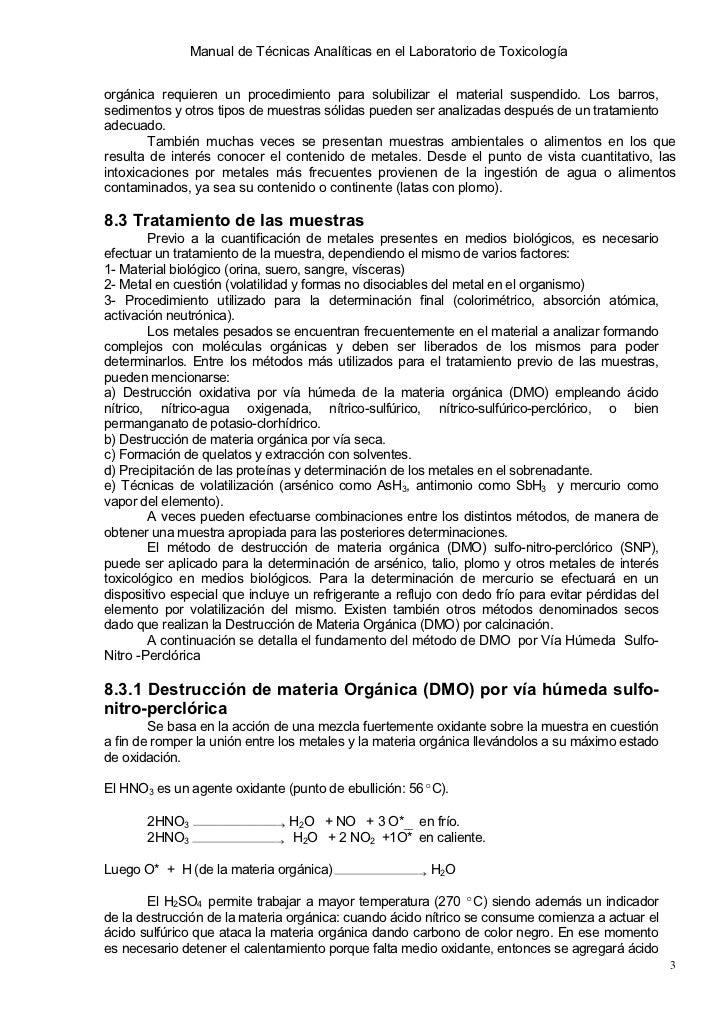 Intoxicacion por metales y no metales for Manual de procedimientos de alimentos y bebidas de un hotel