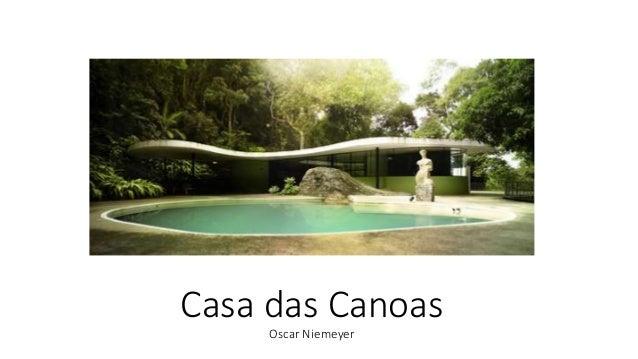 Casa das Canoas Oscar Niemeyer