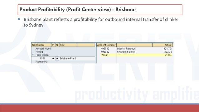  Brisbane plant reflects a profitability for outbound internal transfer of clinker to Sydney Product Profitability (Profi...