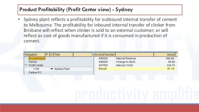  Sydney plant reflects a profitability for outbound internal transfer of cement to Melbourne. The profitability for inbou...