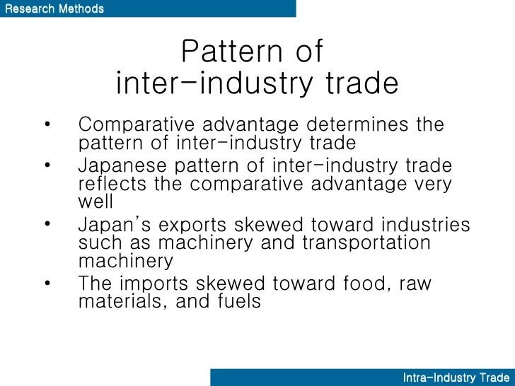 a case for intra industry trade Case study an example of intra-industry international trade would be the international automotive industry there are many different car companies from many different countries around the world that sell around the world in various international markets.