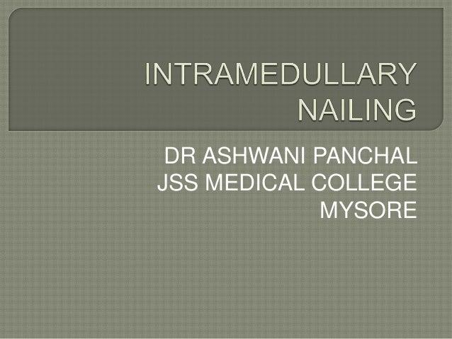 DR ASHWANI PANCHAL JSS MEDICAL COLLEGE MYSORE