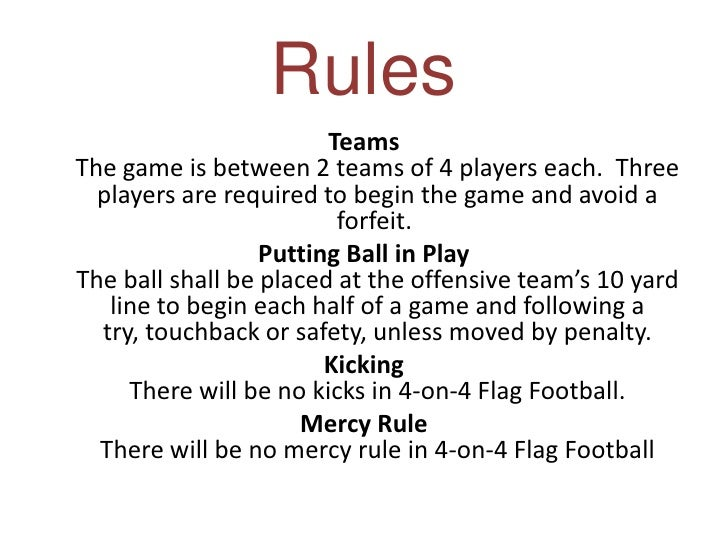 the rules of football essay Some examples for your football essay may include: • rules of the game • fans and their loyalty • college football easily feeds into professional football.
